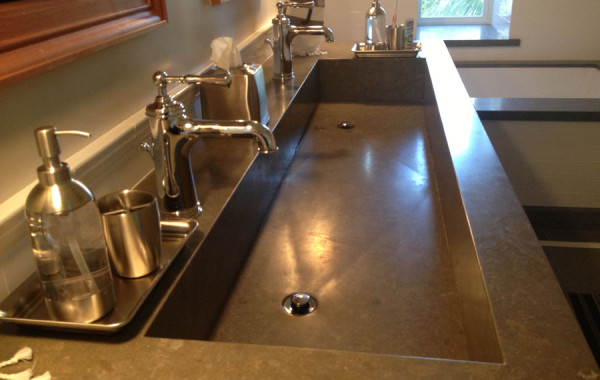 Integrated limestone trough sink