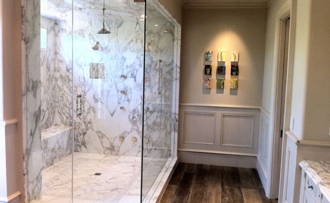 Custom_bathroom_4; Rustic Marble Bathroom 2 ...