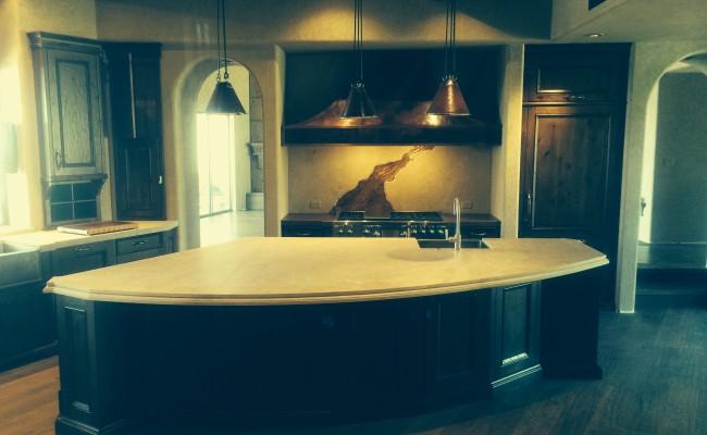 Limestone kitchen / backsplash